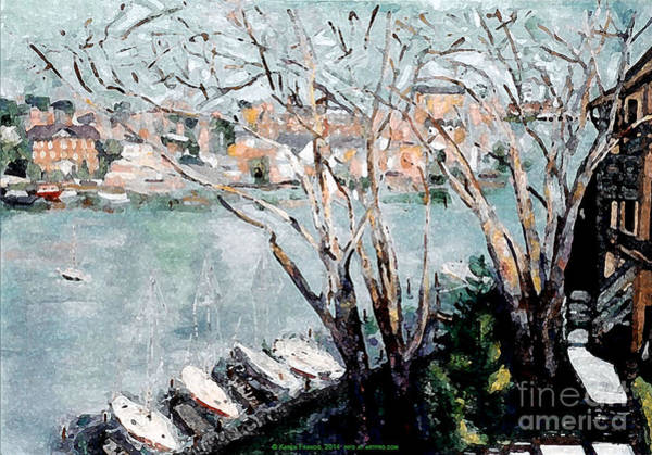 Wall Art - Painting - View Of Annapolis By Karen E. Francis by Karen Francis