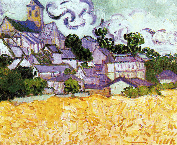 Digital Art - View Of Auvers With Church by Vincent Van Gogh