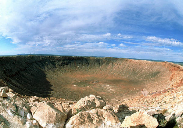 Meteor Crater Photograph - View Of Barringer Crater by Pekka Parviainen/science Photo Library