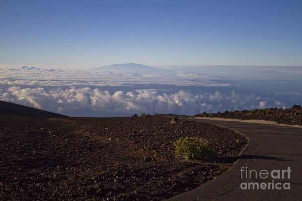 Photograph - View Of Big Island - Hawaii From The Summit Of Haleakala Maui Hawaii by Sharon Mau