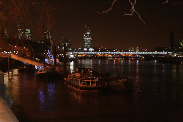 Photograph - Boats On Thames River - London by Doc Braham
