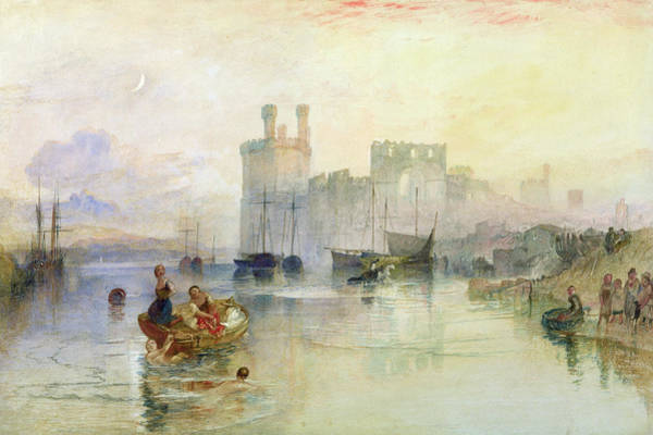 Rowing Wall Art - Photograph - View Of Carnarvon Castle Wc On Paper by Joseph Mallord William Turner