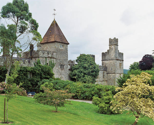 Weather Vane Photograph - View Of Castle And Garden by Jonathan Pilkington