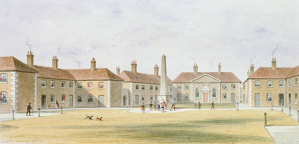 Housing Project Photograph - View Of Charles Hoptons Alms Houses, 1852 Wc On Paper by Thomas Hosmer Shepherd