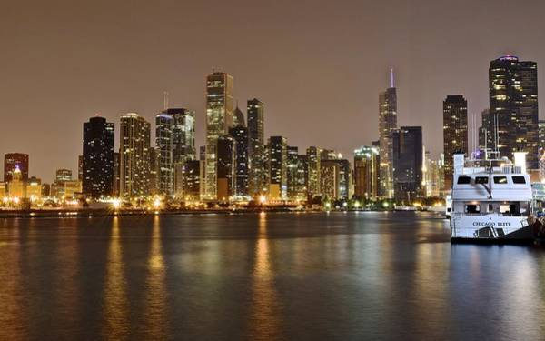 Oprah Wall Art - Photograph - View Of Chicago From Navy Pier by Frozen in Time Fine Art Photography