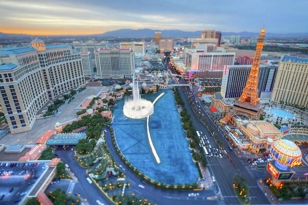 Las Vegas Photograph - View Of City by Eric Lo