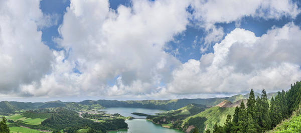 Azores Photograph - View Of Clouds Over The Lake, Lagoa by Panoramic Images