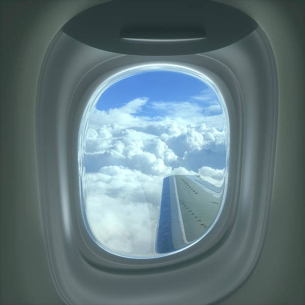 View Through Window Photograph - View Of Clouds Through Aeroplane Window by Ktsdesign/science Photo Library