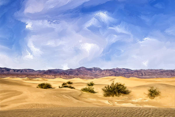 Sand Creek Painting - View Of Death Valley by Dominic Piperata