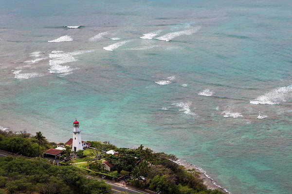 Wall Art - Photograph - View Of Diamond Head Lighthouse by Lynn Wegener