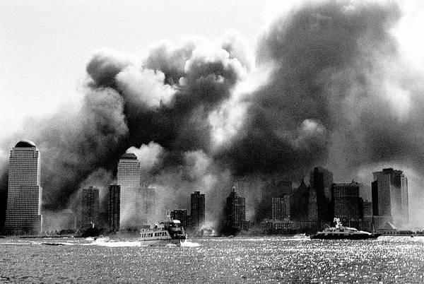 September 11 Attacks Photograph - View Of Downtown Manhattan Skyline by Katja Heinemann