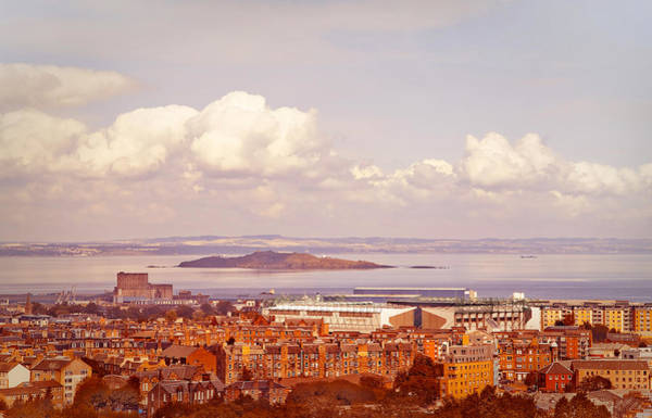 Holyrood Photograph - View Of Edinburgh From Salisbury Crags. Scotland by Jenny Rainbow