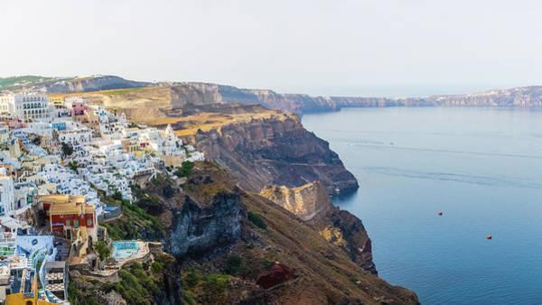 Greece Photograph - View Of Fira Town, Santorini, Greece by Deimagine