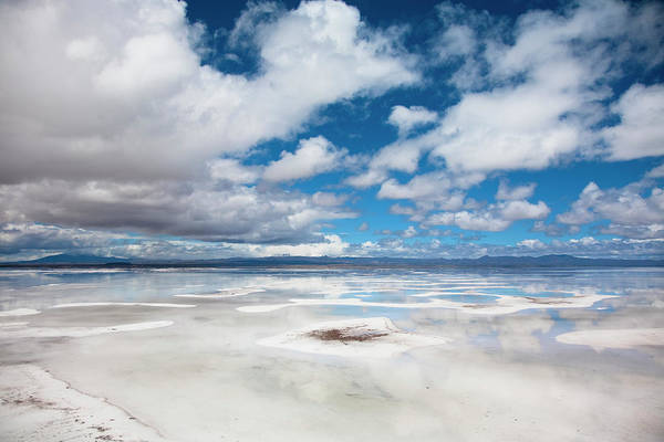 Bolivia Photograph - View Of Flooded Uyuni Salt Flat In by Justin Lambert