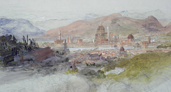 Florence Painting - View Of Florence by Samuel Palmer