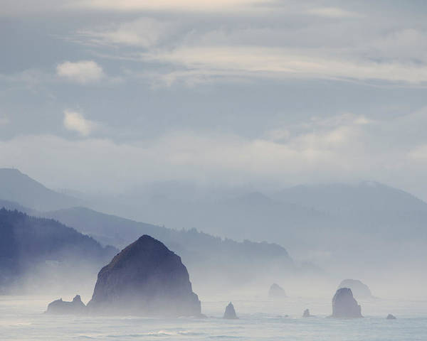 Physical Features Wall Art - Photograph - View Of  Haystack Rock, At Cannon Beach by Mint Images - Paul Edmondson
