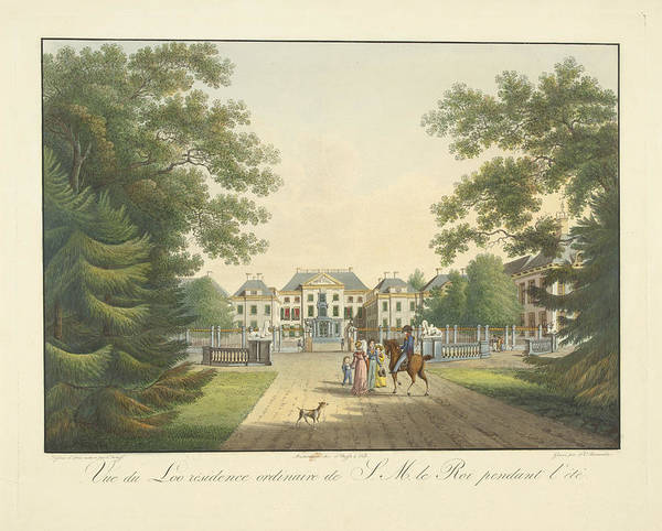 Wall Art - Drawing - View Of Het Loo Palace, The Netherlands, Frederik by Frederik Christiaan Bierweiler And Frans Buffa En Zonen