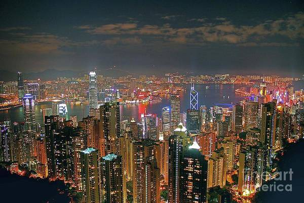 Wall Art - Photograph - View Of Hong Kong From The Peak by Lars Ruecker