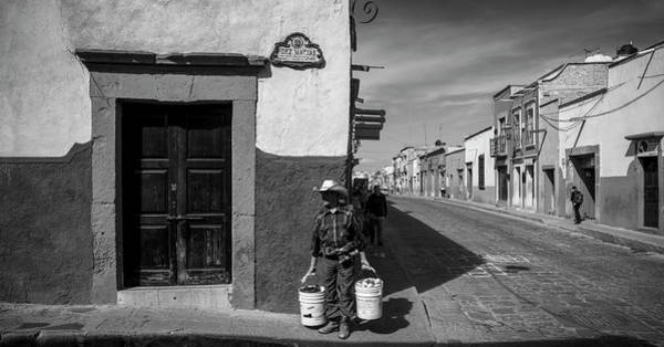 San Miguel De Allende Wall Art - Photograph - View Of Houses Along A Street, San by Panoramic Images