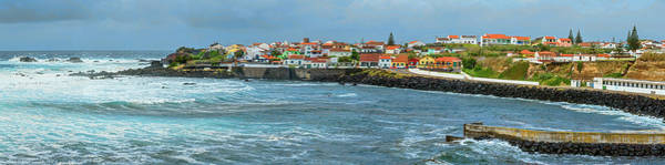 Azores Photograph - View Of Houses On The Coast, Sao Miguel by Panoramic Images