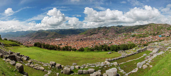 Cusco Photograph - View Of Inca Archaeological Site by Panoramic Images