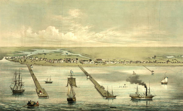 Wall Art - Drawing - View Of Indianola Taken From The Bay, On The Royal Yard by Litz Collection