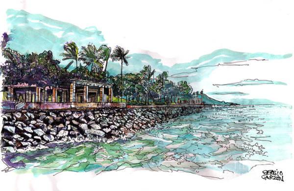 Oahu Drawing - View Of Kakaako by Sergio Garzon