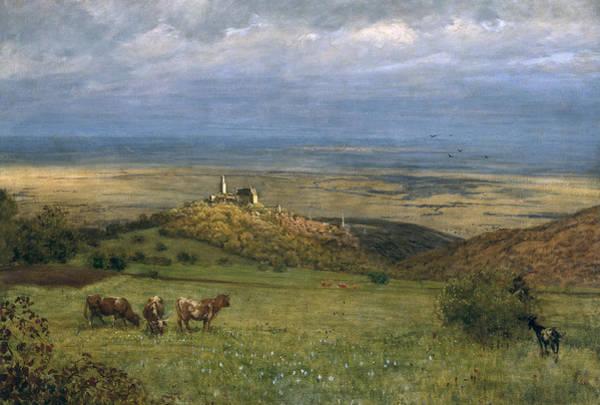 Moorland Wall Art - Painting - View Of Kronberg In Taunus by Hans Thoma
