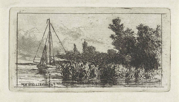 River Bank Drawing - View Of Lek, The Netherlands, Jan Weissenbruch by Jan Weissenbruch