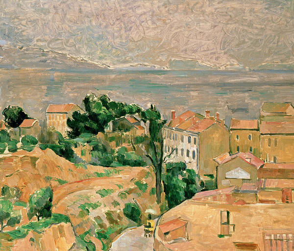 Cezanne Wall Art - Painting - View Of L'estaque by Paul Cezanne