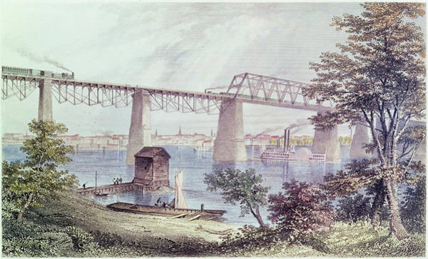 Steam Boat Photograph - View Of Louisville Coloured Engraving by Asa Coolidge Warren