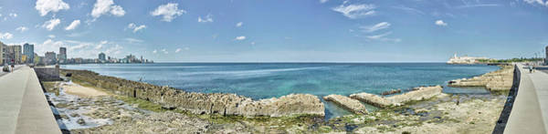 Malecon Wall Art - Photograph - View Of Malecon From Vedado To La by Panoramic Images