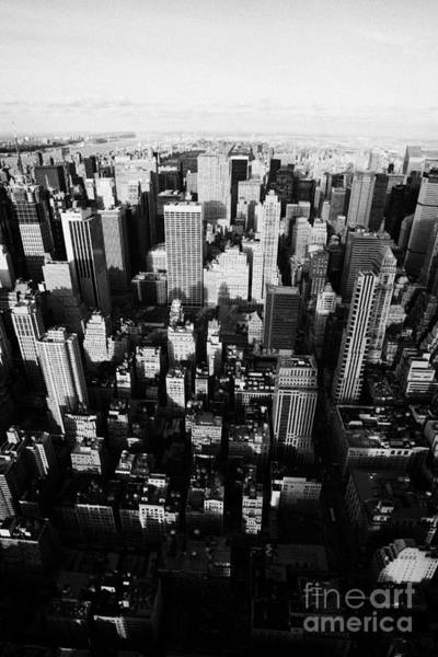 Reaching For The Sky Photograph - View Of Manhattan North Towards Central Park From Empire State Building by Joe Fox