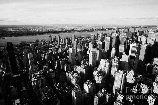 Reaching For The Sky Photograph - View Of Manhattan North West Towards Hudson River From Empire State Building by Joe Fox