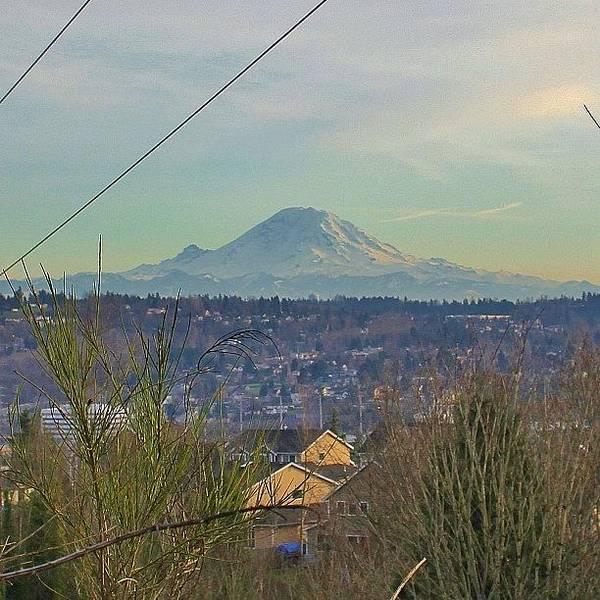 Fantasy Wall Art - Photograph - View Of Mt. Rainier Seattle Washington by Tony Castle