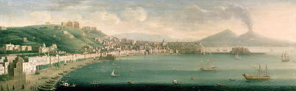 Graf Photograph - View Of Naples From The West, 1730 by Gaspar Butler