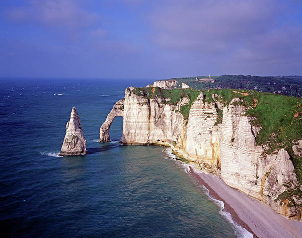 Etretat Photograph - View Of Natural Cliffs By The Ocean by Murat Taner