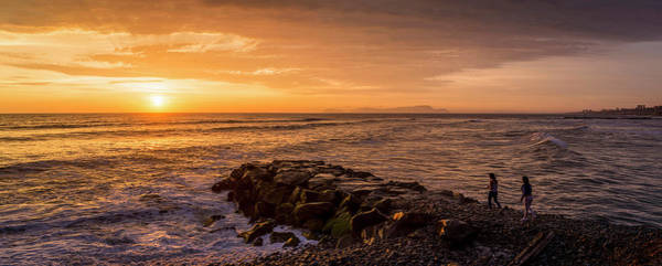 Lima Photograph - View Of Pacific Ocean At Dusk, Playa by Panoramic Images