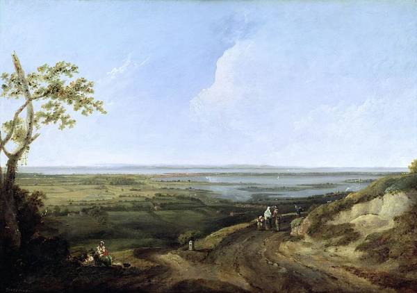 English Coast Wall Art - Painting - View Of Portsmouth From Portsdown Hill by Thomas Jones