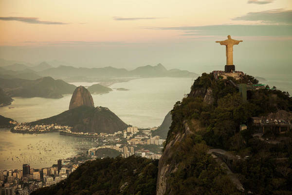 Capital Cities Photograph - View Of Rio De Janeiro At Dusk by Christian Adams