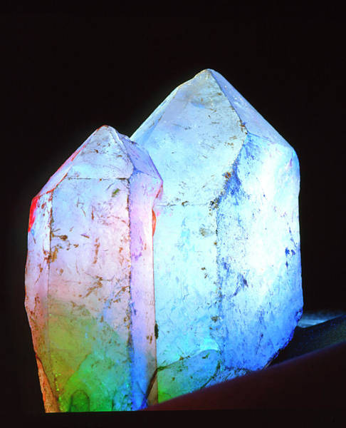 Quartz Photograph - View Of Rock Crystals by Martin Bond/science Photo Library