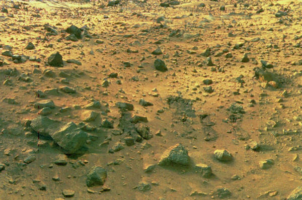 Imagery Photograph - View Of Rock Strewn Surface Of Mars by Nasa/science Photo Library