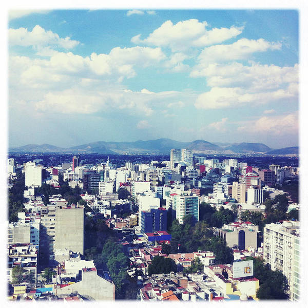 Mexico City Photograph - View Of Skyline by Ixefra