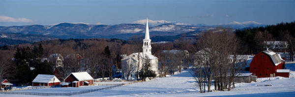 Vt Wall Art - Photograph - View Of Small Town In Winter, Peacham by Panoramic Images