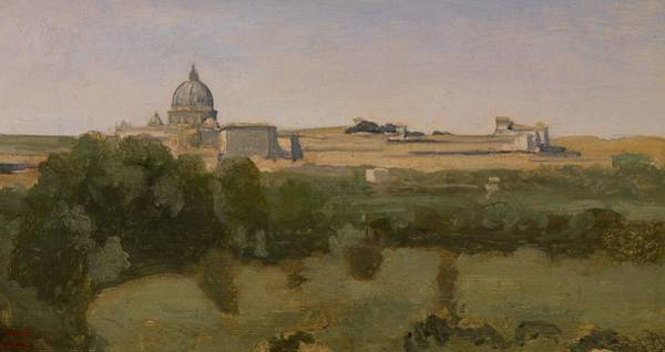 Vatican Painting - View Of St Peters by Jean Baptiste Camille Corot