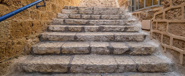 Jaffa Photograph - View Of Staircase, Jaffa, Tel Aviv by Panoramic Images