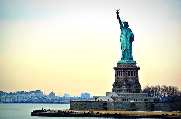 Statue Photograph - View Of Statue Of Liberty by Nicolas Daumas / Eyeem