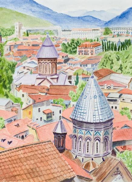 Painting - View Of Tbilisi-republic Of Georgia by Vera  Smith
