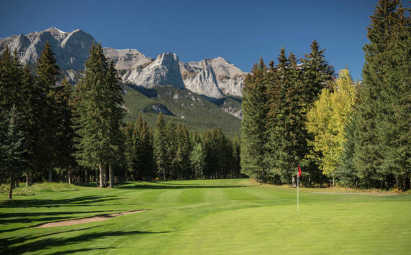 Canmore Photograph - View Of The Canmore Golf Course, Mount by Panoramic Images