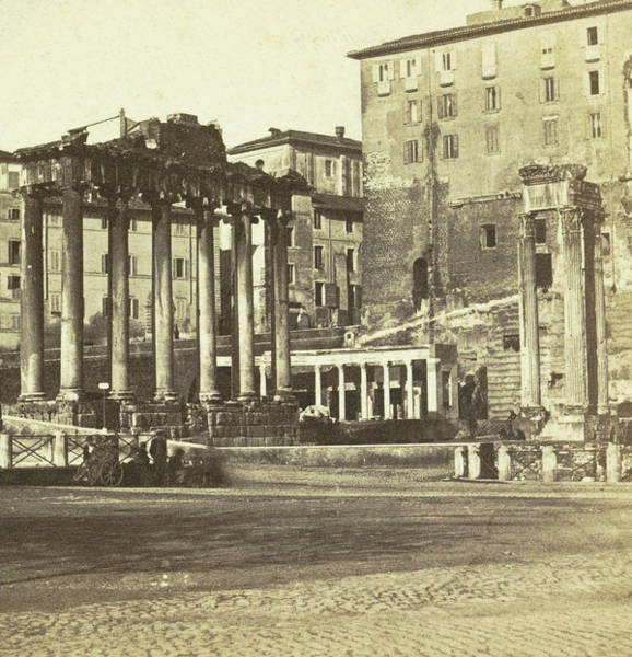 Capitol Drawing - View Of The Capitol With Ruins Of The Forum Romanum by Artokoloro